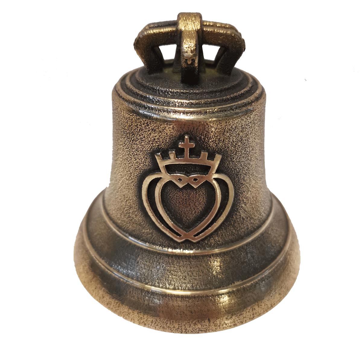 Cloche en bronze décorée d'un coeur vendéen